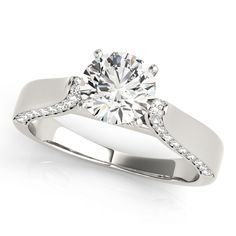 Princess Cut And Round Diamond Bridal Ring Set In 14k White Gold Jewelry & Watches Engagement & Wedding Radient 1/2 Ct.t.w