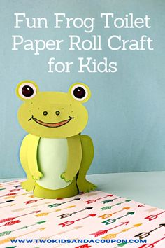 This fun and friendly frog toilet paper roll craft is the perfect craft to have a hopping good craft time. Here's how to make it! Animal Crafts For Kids, Craft Projects For Kids, Paper Crafts For Kids, Easy Crafts For Kids, Arts And Crafts Projects, Craft Activities For Kids, Preschool Crafts, Craft Ideas, Crafts Made With Toilet Paper Rolls