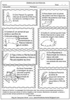 Aqui estão alguns símbolos da Páscoa e uma atividade para criança, espero que gostem!! Tudo foi feito para Honra e Glória do Senhor Jesus!!... Christianity, Bullet Journal, Faith, Education, Homeschooling, Sunday School Kids, Catechism, Biblia, Note Cards