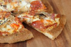 The best grain free and low carb pizza crust! Chewy and everything!