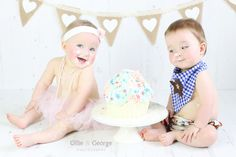 super cute twin cake smash session
