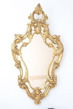 Antique Ornate Gold Mirror
