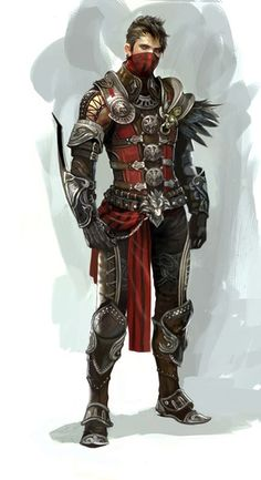 Fantasy Concept This character design is fascinating in costume detail--I especially admire the creativity of the left shoulder/arm, with the feathery pad. Male Character, Character Portraits, Character Creation, Fantasy Character Design, Character Design Inspiration, Character Concept, Concept Art, Armor Concept, Character Types