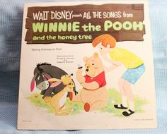"""For your consideration is """" All The Songs From Winnie The Pooh The Honey Tree"""" Vinyl LP from Disneyland Studio. This is a 33 RPM vinyl LP record in NM condition, no scuffing or scratches. Winnie The Pooh Honey, Disney Winnie The Pooh, Disney Records, Disney Music, Disney Presents, Vintage Packaging, Vintage Vinyl Records, Classic Books, Lp Vinyl"""
