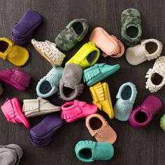 These baby moccasins are so adorable you will want them in every color! They are…