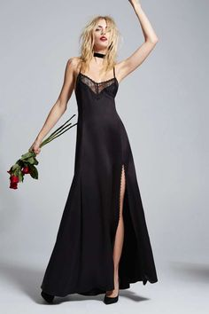 Love, Courtney by Nasty Gal Once and Destroy Satin Maxi Slip   Shop Product at Nasty Gal!