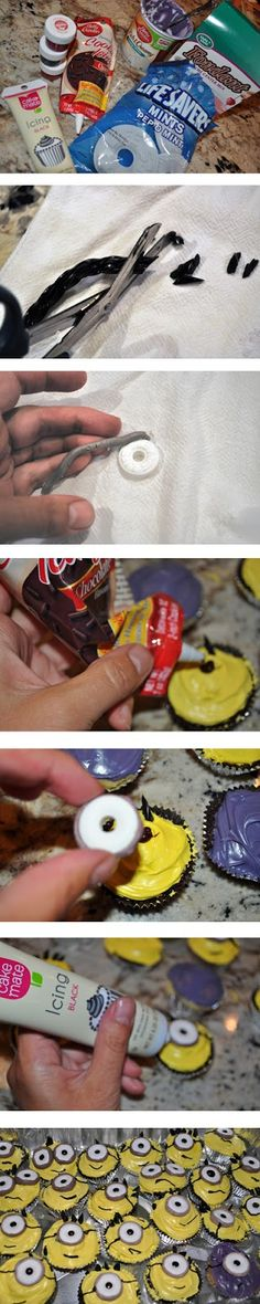 Make Minion Cupcakes without Twinkies So easy!!!