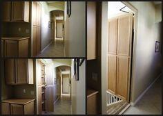 Secret passageway built into functional cabinets:   31 Beautiful Hidden Rooms And Secret Passages