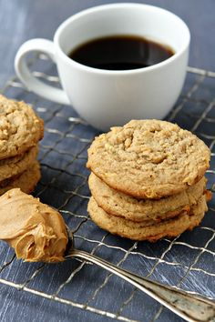 Apple Peanut Butter Cookies - Grated apples combine with creamy peanut butter to create a fun and unique spin on a classic combination. Serve them alongside a glass of ice cold milk and you have the perfect snack for a chilly Fall day.