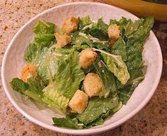 Caesar Salad with dressing and crouton recipe