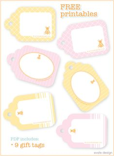free printable gift tags! Perfect for cute baked treats! #free #printable