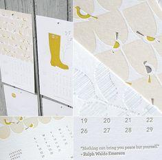 Letterpress 2012 calendar by Ink + Wit