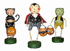 Trick or Treaters - Lori Mitchell Folk Art