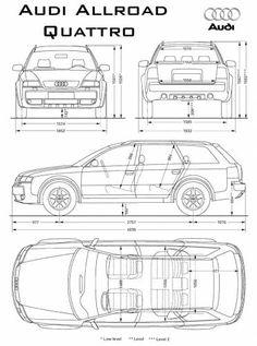 Audi Allroad Car Top View, Vw T3 Doka, Stock Car, Audi A6 Quattro, Audi Allroad, High Performance Cars, Audi Cars, Car Sketch, Car Drawings