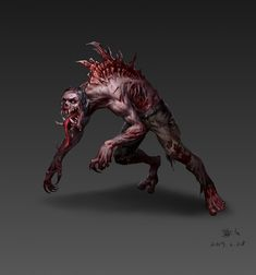 Weird Creatures, Fantasy Creatures, Mythical Creatures, Zombie Monster, Creepy Monster, Cool Monsters, Horror Monsters, Fantasy Monster, Monster Art