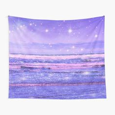 """""""Ocean Vintage Sparkly Aesthetic"""" Tapestry by ind3finite   Redbubble Tapestry Bedroom, Wall Tapestries, Tapestry Wall Hanging, Thing 1, Tapestry Design, Ocean Waves, Textile Prints, Sell Your Art, Top Artists"""