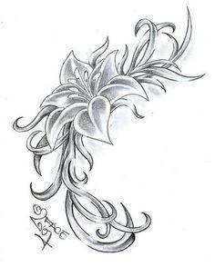 Bildergebnis für tattoo flower vorlage