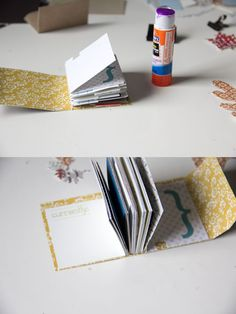 Mini album with index cards