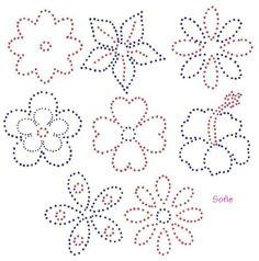 Rhinestone flower pattern