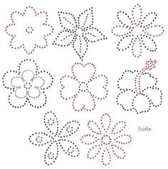 Rhinestone flower pattern