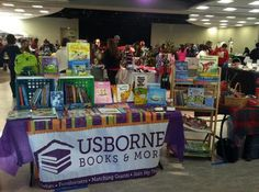 Our booth at a church craft fair. We sell amazing children's books ranging from birth all the way through high school!  We work with schools, libraries, home school groups, Facebook parties,