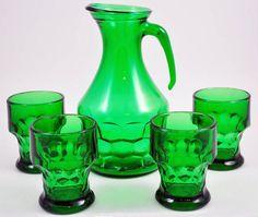 Emerald Green Vintage Glassware   Vintage Glassware   Pinterest