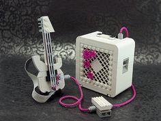 LEGO White Guitar