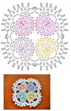 Home Decor Crochet Patterns Part 86 - Beautiful Crochet Patterns and Knitting Patterns Crochet Motifs, Crochet Blocks, Crochet Diagram, Crochet Stitches Patterns, Doily Patterns, Crochet Chart, Crochet Doilies, Knitting Patterns, Crochet Squares