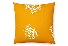 Coral Outdoor Pillow, Yellow