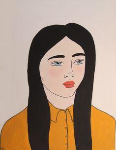 Girl with a Mustard Shirt Mustard Shirt, Blood Art, Paintings For Sale, Online Art, Art Girl, Giclee Print, Pop Art, Original Art, The Originals