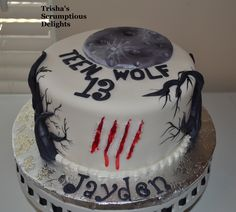 Teen wolf cake by trisha's scrumptious delights