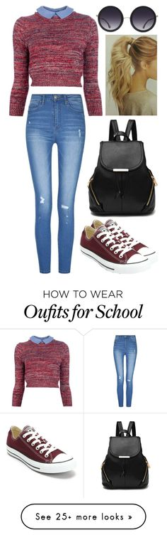 """""""School"""" by musicmelody1 on Polyvore featuring Carven, Converse and Alice + Olivia"""