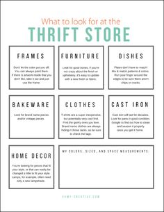 22 Gorgeous Goodwill Makeover Projects - Oh My Creative Thrift Store Shopping Guide Printable Thrift Store Outfits, Thrift Store Shopping, Thrift Store Crafts, Thrift Store Finds, Thrift Stores, Shop Goodwill, Goodwill Finds, Shopping Tips, Thrift Store Furniture