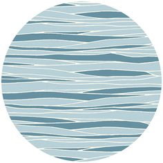 Jay-Cyn Designs for Birch Fabrics, Feather River, River View Cute fabric - birch bark/waves and blue-ish