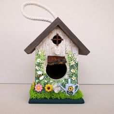 Garden Cottage Mini Birdhouse