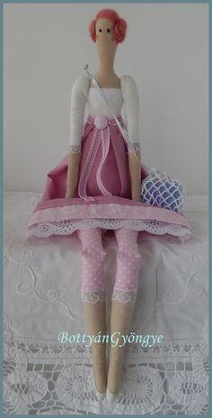 Tilda jellegű baba - Róza - Tilda doll Roza