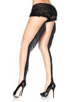 Strømpebukser med frynser - perfekt til Charleston festen! Stockings Legs, Stockings Lingerie, Sexy Lingerie, Cheap Lingerie, Lingerie Outfits, Fashion Lingerie, Fashion Tights, Sheer Tights, Opaque Tights