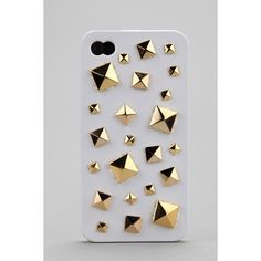 Mixed Stud iPhone 4/4s Case ($36) via Polyvore