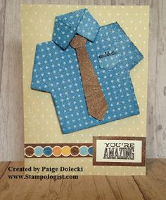 Paige Dolecki - Stampologist: Sneak Peek #6 - Artiste Shirt Card for Cards for the Guys in our Lives Class - Friday, 7th June