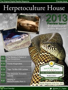 Herpetoculture House Digital Reptiles Magazine Releases a Complete Preview Issue for FREE! Happy holidays from Herpetoculture House Digital Reptiles Magazine House And Home Magazine, Reptiles, Happy Holidays, Digital, Free