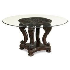 Round Glass Pedestal Dining Table ledo round glass dining table with palm tree pedestal basecmi
