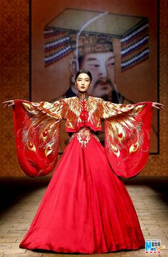 (China Fashion Week - NE Tiger.) Empress, but embroidery is a different style.