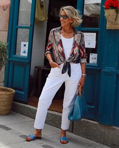 Elegant Summer Outfits, Summer Outfits For Teens, Classic Outfits, Casual Summer Outfits, Chic Outfits, Fashion Outfits, 60 Fashion, Over 50 Womens Fashion, Autumn Fashion