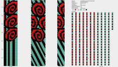 16 beads around 3 colors spiral rose with stripes pattern for bead crochet Bead Crochet Patterns, Seed Bead Patterns, Bead Crochet Rope, Peyote Patterns, Beading Patterns, Beaded Crochet, Crochet Beaded Bracelets, Beaded Bracelet Patterns, Beaded Jewelry