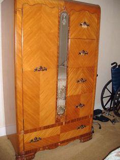Waterfall Style Furniture Waterfall Bedroom Set 1930 40