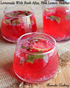 Lemonade With Rooh Afza, Rooh Afza Lemon Sharbat