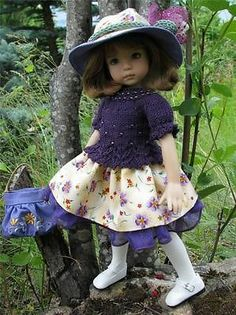 "~PURPLE BEADED GEM!~ by Tuula fits Dianna Effner 13"" Little Darling to a ""t""!"