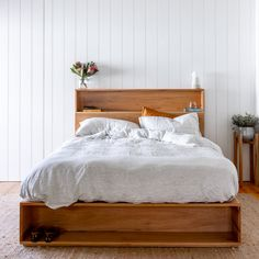 Al and Imo Custom Timber Furniture Bed Frame With Drawers, Bed Frame With Storage, Beds With Storage Drawers, Wooden Bed With Storage, Bed Drawers, Bed Storage, Timber Bed Frames, Timber Beds, Minimalist Bed Frame