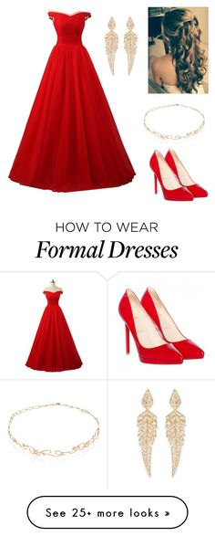 """""""Untitled #159"""" by krisi-markova on Polyvore featuring Christian Louboutin, Diane Kordas and Stephen Webster"""