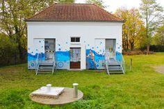 Art-EFX-Trafostationsbemalung gibt Blick auf technisches Innenleben frei, #artefx, #murals, #muralpainting, #streetart, #graffitiauftrag, #substation, #illusionsmalerei,#zinowitz